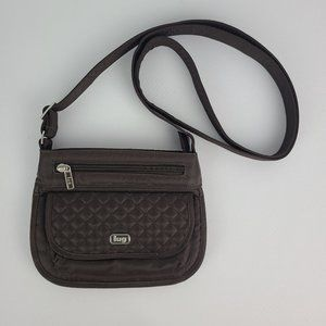 Lug Brown Quilted Crossbody Purse